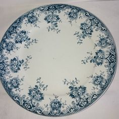 French Vintage Turquoise Blue Transferware by FrenchPastTimes