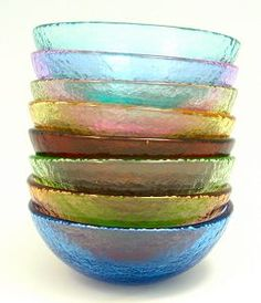 Glassware made from 91% recycled glass. $20 a piece.