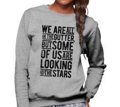 Unisex Looking At the Stars Oscar Wilde Sweatshirt
