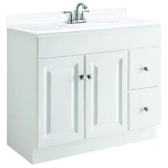 Design House Wyndham 36 In. W X 21 In. D Unassembled Vanity Cabinet Only In  White Semi Gloss. Mobilier De SalonMeuble Salle De BainMeublesVanités ...
