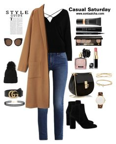 Casual Saturday by soniaaicha on Polyvore featuring polyvore, fashion, style, River Island, Calvin Klein, MANGO, Chloé, Larsson & Jennings, Kate Spade, Nadri, LULUS, Gucci, STELLA McCARTNEY, Bobbi Brown Cosmetics, Giorgio Armani, MAC Cosmetics, Givenchy, Victoria's Secret and clothing