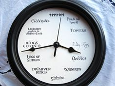 The Ultimate Lord of the Rings Clock, the one to rule them all!  Love LOTR or know someone who wishes they lived in Middle Earth? Now you can tell