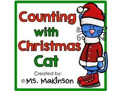 """Pete the Cat activities: FREE counting with Christmas cat emergent reader.  """"Purr-fect"""" go along with Pete the Cat's Christmas story."""
