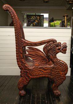 Antique Dragon Chair