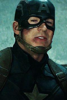 Chris Evans as Steve Rogers in Captain America: Civil War