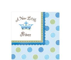 Little Prince Baby Shower Lunch Napkins - Party City