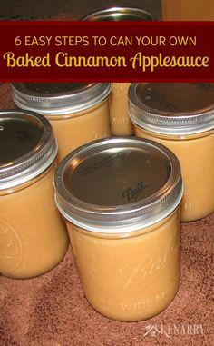 Applesauce: Six Easy Steps to Can Baked Cinnamon Applesauce