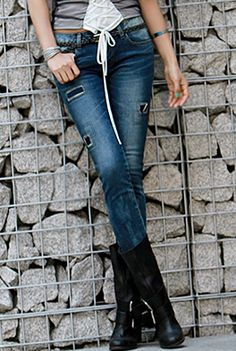 Today's Hot Pick :Square Patched Denim Jeans http://fashionstylep.com/SFSELFAA0001788/happy745kren/out High quality Korean fashion direct from our design studio in South Korea! We offer competitive pricing and guaranteed quality products. If you have any questions about sizing feel free to contact us any time and we can provide detailed measurements.