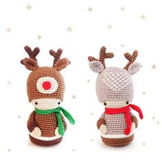 Make these reindeer amigurumi dolls for the Holidays! Find this pattern and more Christmas inspiration at LoveCrochet.Com.