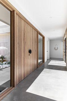 Door Design, House Design, Garden Design, Stone Cladding, Wall Cladding, Timber Door, Resort Style, Facade House, House Goals