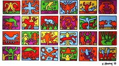 Retrospect by Keith Haring. Keith Haring rose to prominence in the graffiti, street art scene. His iconic hieroglyphic pop images are now know worldwide. Keith Haring Poster, Keith Haring Prints, Keith Haring Art, Keith Haring Oeuvres, Image Pinterest, Pop Art, Street Art, Poster Prints, Art Prints