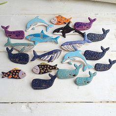 Ну и морские обитатели #керамика#ceramic#ceramica#ceramics#keramik#keramika#brooch#brooches#clay#bijouterie#jewerly#handmade#art#handpainted#handmadebrooch#ukraine#decor#design#crafts#whale#sea#chipchip_ceramics