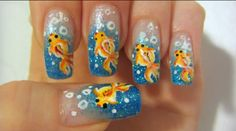 Another cute goldfish nail art