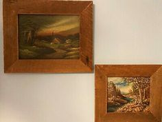 """The S Gruber one appears similar in style to the one we have. Vintage Oil Paintings One Signed S. Gruber. Shipped with USPS Priority Mail. I have two paintings for sale that are framed using reclaimed barn wood. The larger painting is 18"""" x 14.5"""" and the smaller one is 14"""" x 12.5"""". Both paintings seem to be oil on board. One is signed """"S. Gruber"""". There is very little information on the artist. Both pieces are very charming and are painted in an impressionist style. Paintings For Sale, Oil Paintings, Vintage Art Prints, Reclaimed Barn Wood, Large Painting, Priority Mail, Impressionist, Larger, Make It Yourself"""