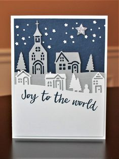 Hearts Come Home by Cindy Farina - Cards and Paper Crafts at Splitcoaststampers Die Cut Christmas Cards, Christmas Card Crafts, Christmas Hearts, Homemade Christmas Cards, Xmas Cards, Holiday Cards, Christmas Houses, Winter Cards, Mery Chrismas