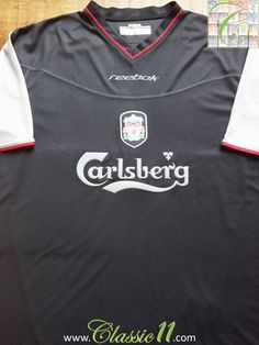 Relive Liverpool s 2002 2003 season with this vintage Reebok away football  shirt. Liverpool Fans 2292e668b4c73