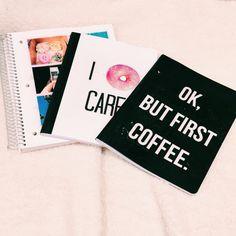DIY back to school notebooks ♡