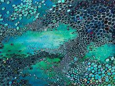 """Aquatic Blues"" canvas wall art by Amy Genser for GreenBox Art + Culture $249"