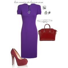 """""""Purple with Red (The Bomb)"""" by lisa-eurica on Polyvore"""