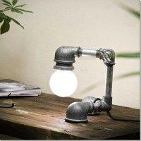 luminária com cano pvc