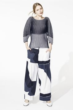 Issey Miyake   Resort 2015.  I liked the sweater but I can't condone the pants.