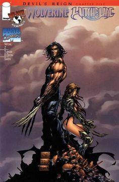 Wolverine/ Witchblade (Variant) by Michael Turner & D-Tron Wolverine Comics, Logan Wolverine, Marvel Comics, Comic Book Artists, Comic Artist, Comic Books, Top Artists, Michael Turner, Marvel Characters