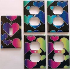 Rainbow heart Print Pink Purple Lime Green by summitskycreations, $4.99