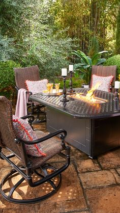 Red Ember Bozeman Rectangle Propane Fire Table With Optional Tank Hideaway  | Firepits | Pinterest | Fire Table, Fire Pit Propane And Outdoor Fire