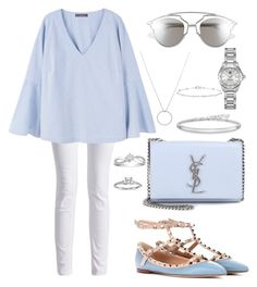"""""""Yezza"""" by hernameiskai on Polyvore featuring Roberto Coin, Barbour International, Valentino, MANGO, Yves Saint Laurent, Christian Dior, Blue Nile, Thomas Sabo, TAG Heuer and Anne Sisteron"""