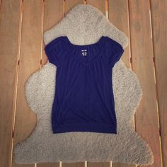 navy v-neck top lightly worn. perfect condition. comfortable fabric. flattering. Mossimo Supply Co. Tops