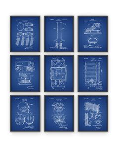 Ice Hockey Patent Print Set Of 9 NHL Ice Hockey by QuantumPrints