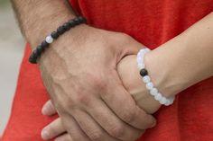Couple Bracelets, Cord Bracelets, Long Distance Relationship Bracelets, Amethyst Bracelet, Anklets, Stone Beads, Little Gifts, Boyfriend Gifts, Best Gifts