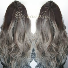 brown to silver ombre - Google Search