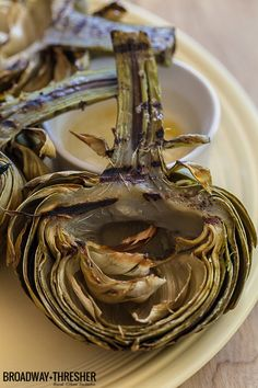 Recipe for grilled artichokes with lemon butter by Jackie Alpers: for Food+Drink — BROADWAY+THRESHER