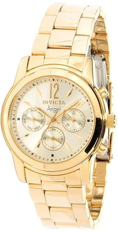 #Invicta #Watch , Invicta Women's 12551 Angel Collection 18k Gold-Plated Stainless Steel Watch