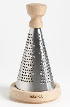 Oak & Stainless Steel Table Grater