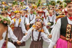 11th Latvian School Youth Song and Dance Festival in Riga, Latvia.