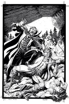 Dracula vs Frankenstein por Adams.