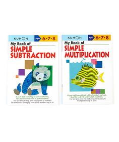 Look what I found on #zulily! My Book of Simple Subtraction & Multiplication Workbook Set #zulilyfinds