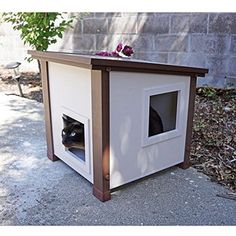Outdoor Feral Cat House, Cat House Protects Your Outdoor Cats From The Elements. *** Visit the image link more details. (This is an affiliate link) #CatHousesCondos