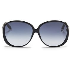 Victoria Beckham 'Large Fine Oval' acetate oversize sunglasses ($365) ❤ liked on Polyvore featuring accessories, eyewear, sunglasses, black, transparent glasses, oval glasses, oversized oval sunglasses, oversized clear glasses and oversized glasses