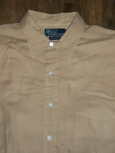 Polo Ralph Lauren Lowell Sport L Long Sleeve Button-Front Cotton Pocket Flannel