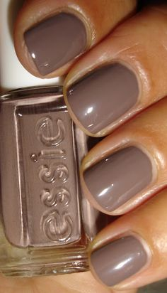 "Essie Color...""don't sweater it."" Perfect fall color."