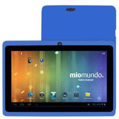 "MioMundo Tablet Android Q07 con Doble Cámara. Allwinner A13 Cortex A8 de 1,2Ghz. RAM 512Mb. ROM 4Gb. Pantalla 7"" Capacitiva Multitáctil. Resolución 800x 480. Android 4.0. ¡REGALO!: Funda de protección para niños en color azul oscuro y puntero. B00F4RLCM4 - http://www.comprartabletas.es/miomundo-tablet-android-q07-con-doble-camara-allwinner-a13-cortex-a8-de-12ghz-ram-512mb-rom-4gb-pantalla-7-capacitiva-multitactil-resolucion-800x-480-android-4-0-regalo-funda-de-prot-2.ht"