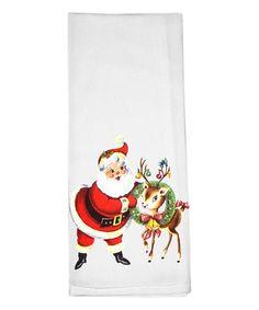 Love this Santa & Reindeer Dishtowel on #zulily! #zulilyfinds