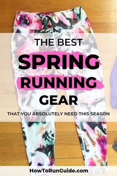 Spring running gear to keep you comfortable and safe. Prepare to crush your running this spring, you just need the right gear! Best Running Gear, Running Training, Running Tips, Running Women, Best Running Leggings, Spring Training, Running In The Dark, Half Marathon Training Plan