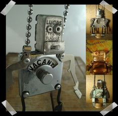 Cute Little Robots Created from Retro Household Junk