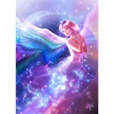 Angel ❤ liked on Polyvore featuring backgrounds, people, anime, fairies and fantasy