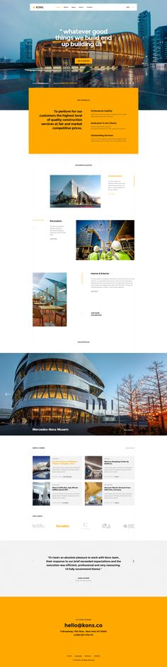 Kons ! Construction PSD Template #blog #building #business • Download ➝ https://themeforest.net/item/kons-construction-psd-template/20953871?ref=pxcr