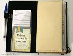 Way Cool Wallet - Original Midori Travelers Notebook As A Wallet, front pocket | Sarah Celebrates